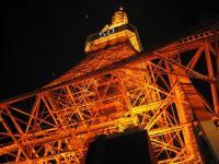 下から東京タワー