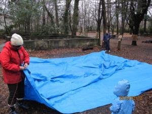森のテント
