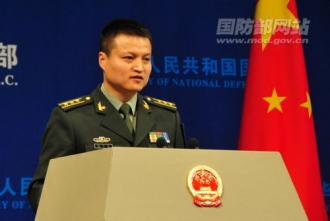 2445  國防部新聞事務局副局長、國防部新聞發言人楊宇軍上校答記者問 高鵬攝