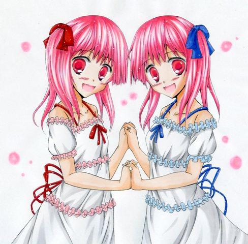双子の女の子カラー