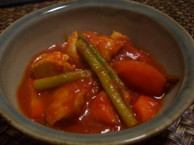 塩鶏のトマト煮