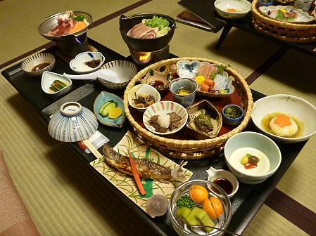 峡雲荘の夕食08(2011.12.4)