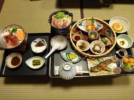 峡雲荘の夕食09(2011.12.4)
