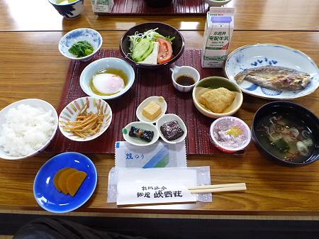 峡雲荘の朝食03(2011.12.5)