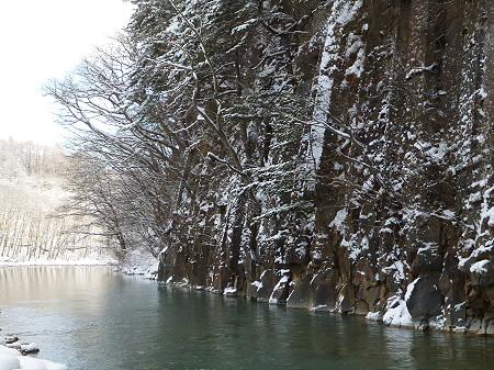 松川渓谷玄武岩09(2011.12.21)