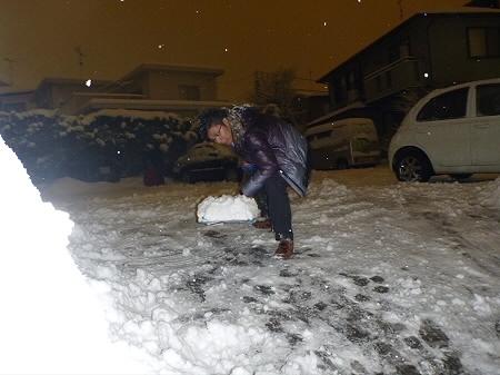 雪かき01(2012.1.1)