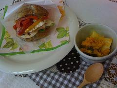 サンド&かぼちゃサラダ
