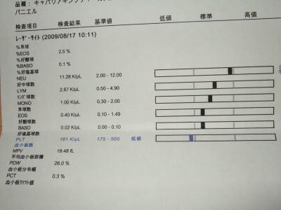 血液検査 マーチ 5