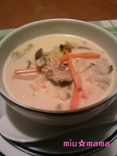 牡蠣と白菜のクリーム煮