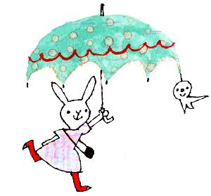 雨降りうさぎ