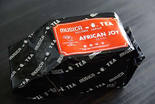 あなざほりでーで購入した紅茶 ムジカ アフリカンジョイ