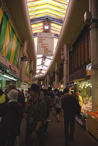 再開発された近江町市場