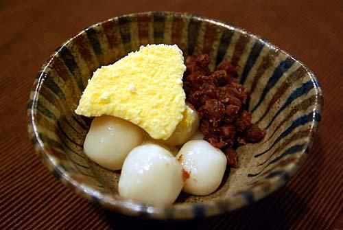 白玉と餡子とバニラアイスクリーム