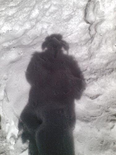 雪に映った自分