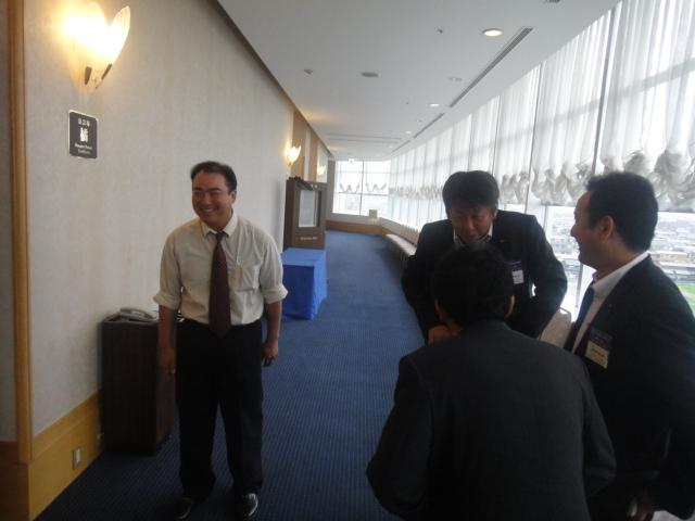 宮窪会長と小野会長のお出迎え