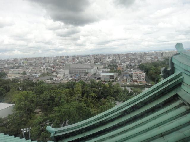 天守閣最上階からの風景