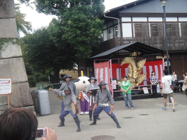 武将隊の演舞