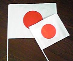 必死に振った旗