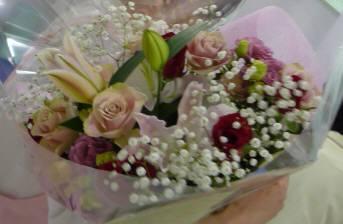 送別の日の花束