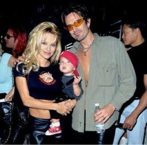 tommy and pam and baby