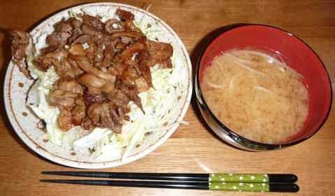 100418バラ肉丼