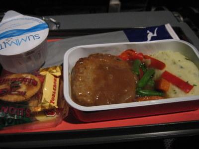 メルーシドニー間機内食