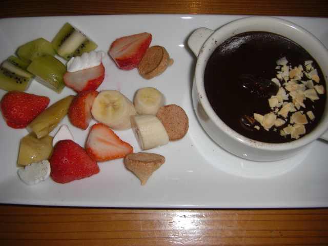 チョコレートフォンドュ
