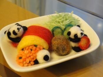 オムランチ①パンダ