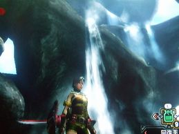滝のある景色