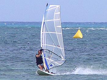 サイパンマイクロビーチ2007年7月10日台風ライド!