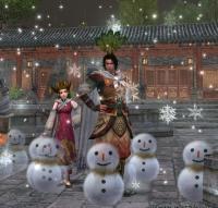 ツイジクンと雪ダルマ
