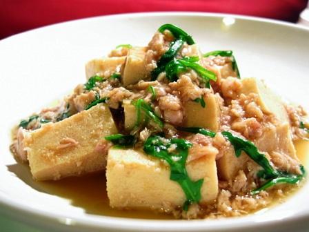 高野豆腐のそぼろあん