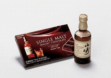 「山崎12年」と「シングルモルトウイスキーチョコレート」