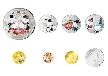 「英国王立造幣局鋳造 ハローキティ誕生35周年記念貨」