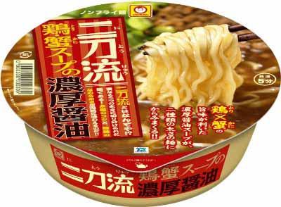 「マルちゃん 二刀流 鶏・蟹スープの濃厚醤油」