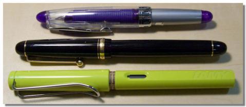 手持ちの万年筆