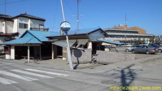 津波の被害に遭ったと思われる家屋