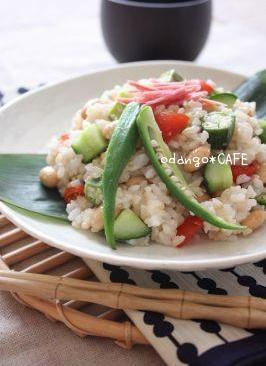 大豆とコロコロ野菜のちらし寿司風