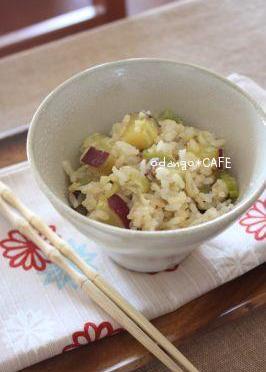 ピリ甘♪柚子こしょう風味のさつまいもご飯