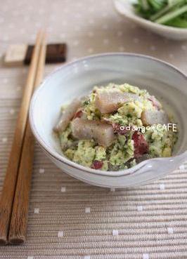 さつま芋とこんにゃくの和風青のりサラダ