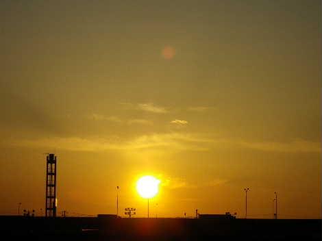 夕日が。。