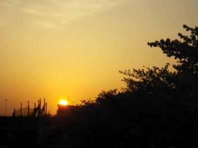 夕日が沈むまで。。。