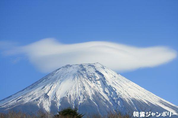 朝霧 富士鳥雲