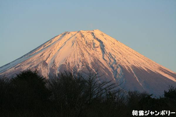 朝霧 富士 夕焼け