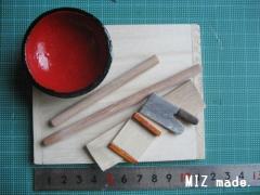 ミニチュア蕎麦打ち道具