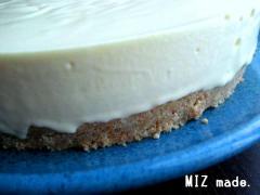 ひな祭りのレアチーズケーキ