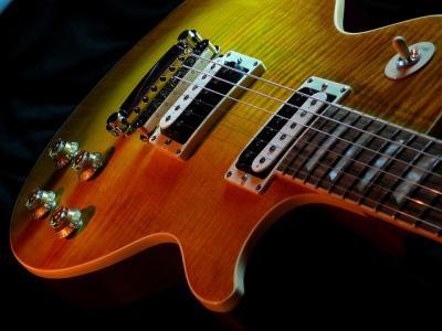 ギブソン ギター 楽器 陰影