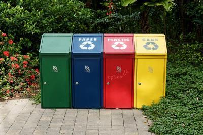 ゴミ箱 公園 カラー ゴミ