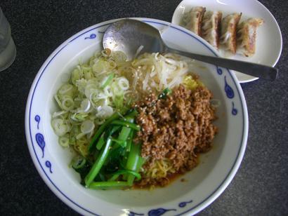 つゆ無しタンタン麺