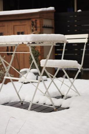 4cmの積雪~!